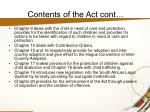 contents of the act cont1