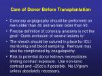 care of donor before transplantation5