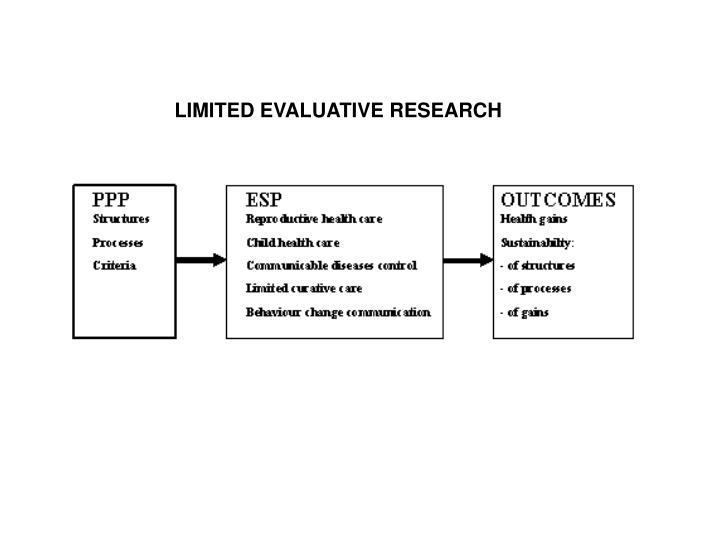 LIMITED EVALUATIVE RESEARCH