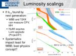 luminosity scalings