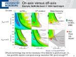on axis versus off axis example numi like beam 100kt liquid argon