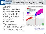 timescale for q 13 discovery