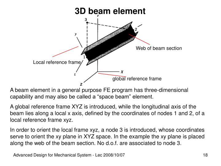 3D beam element