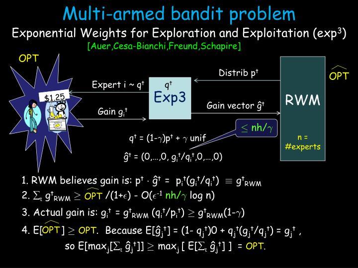 Multi-armed bandit problem
