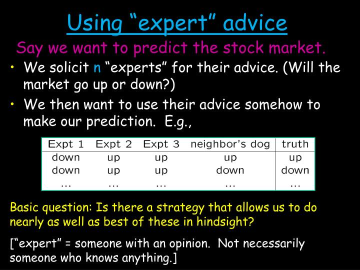 Using expert advice