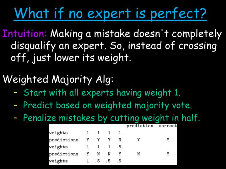 What if no expert is perfect?