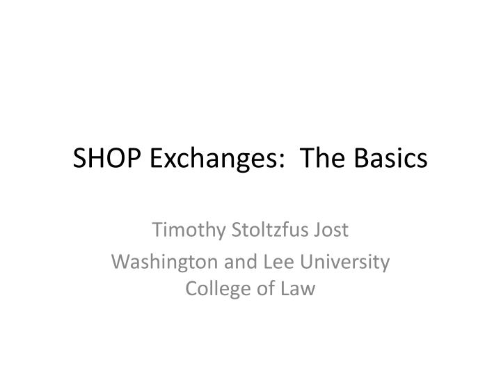 shop exchanges the basics n.