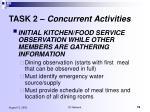 task 2 concurrent activities