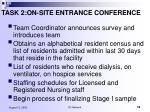 task 2 on site entrance conference