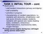 task 3 initial tour cont