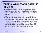 task 4 admission sample review