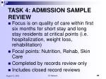 task 4 admission sample review1