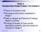 task 6 transition from stage i to stage ii
