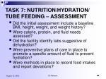 task 7 nutrition hydration tube feeding assessment