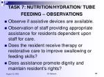 task 7 nutrition hydration tube feeding observations1