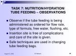 task 7 nutrition hydration tube feeding observations5