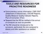 tools and resources for proactive readiness1