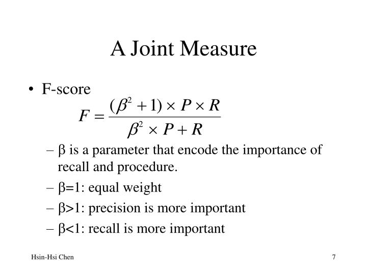 A Joint Measure