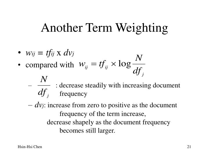 Another Term Weighting