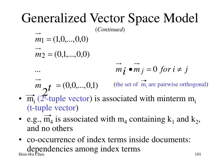 Generalized Vector Space Model