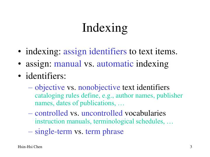 Indexing1