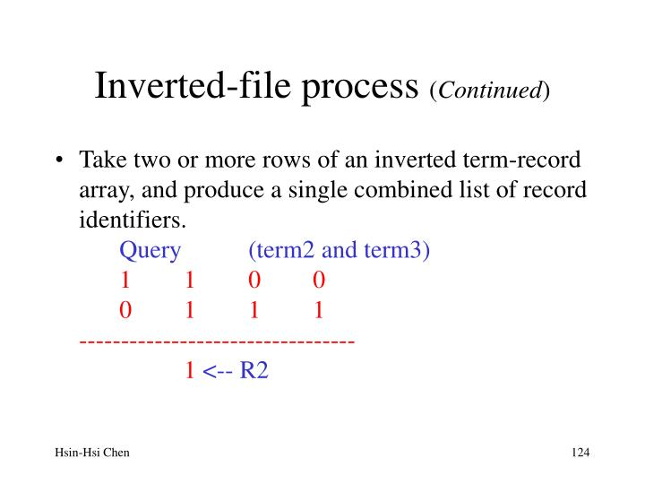 Inverted-file process