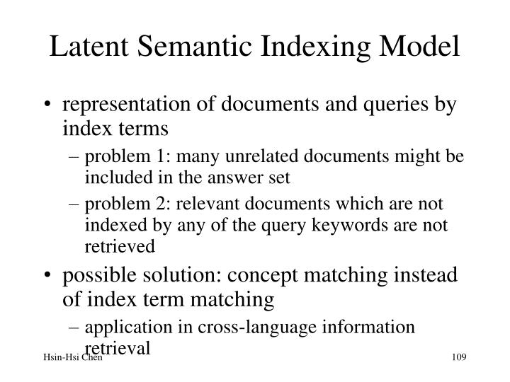 Latent Semantic Indexing Model