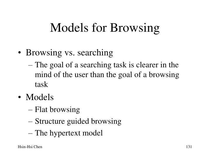 Models for Browsing