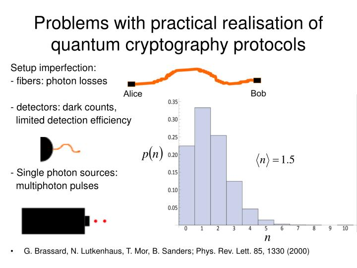 Problems with practical realisation of quantum cryptography protocols
