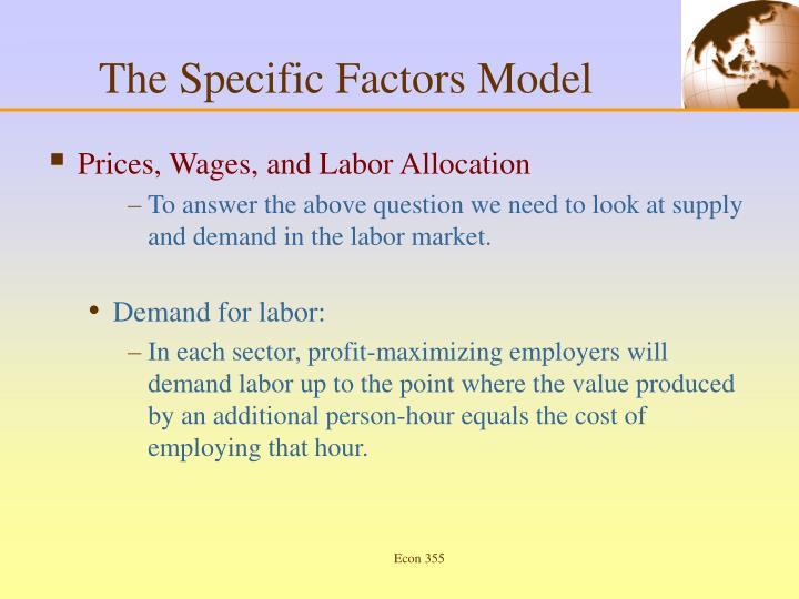 The Specific Factors Model