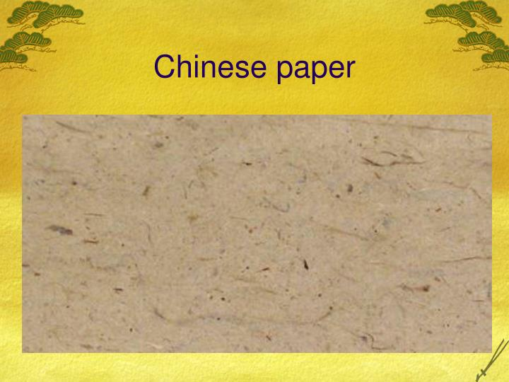 Chinese paper