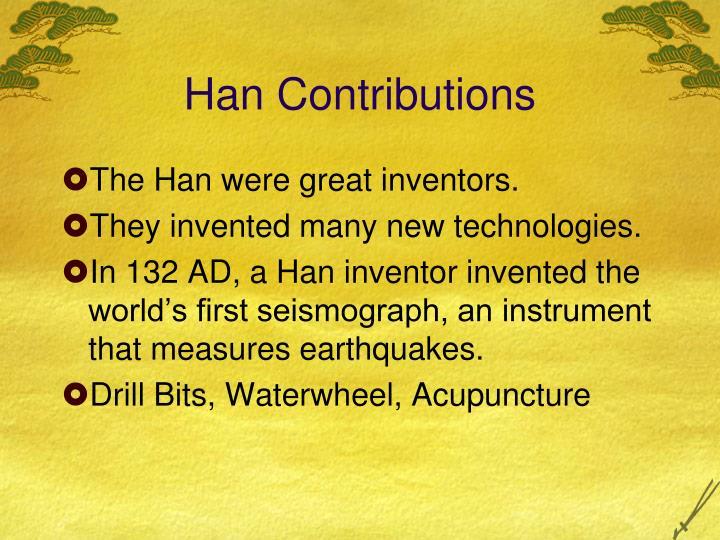 Han Contributions