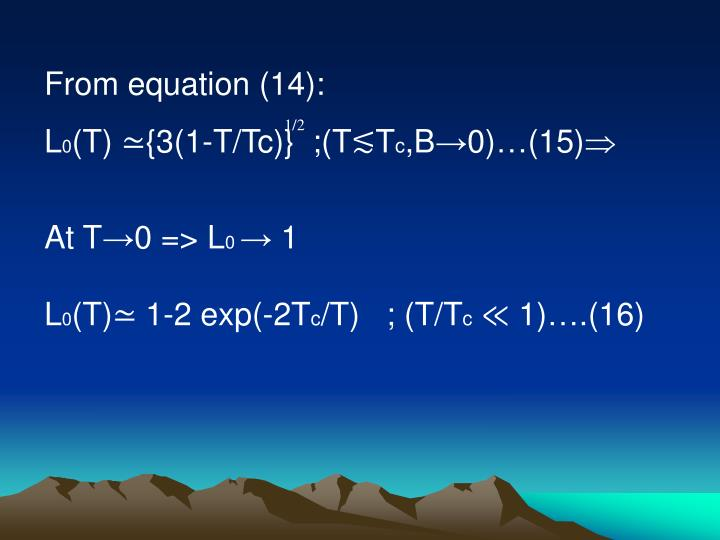 From equation (14):