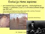 evolucija homo sapiensa