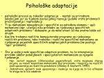 psiholo ke adaptacije