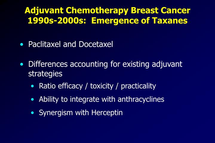Adjuvant Chemotherapy Breast Cancer