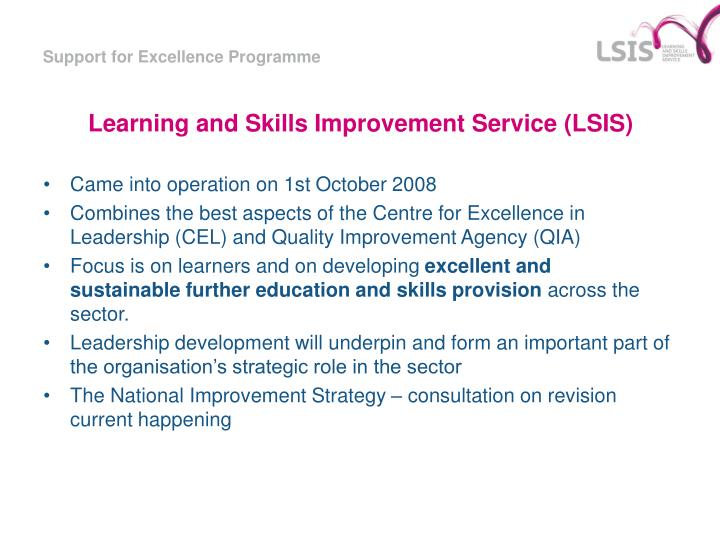 Learning and skills improvement service lsis