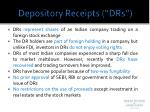 depository receipts drs