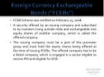 foreign currency exchangeable bonds fcebs