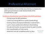 preferential allotment