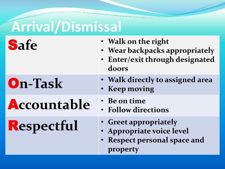 Arrival/Dismissal