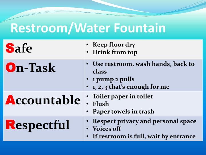 Restroom/Water Fountain