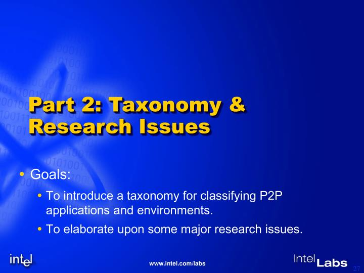 Part 2: Taxonomy & Research Issues