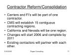contractor reform consolidation