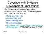 coverage with evidence development implications