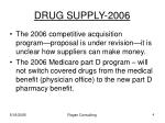 drug supply 2006