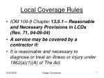 local coverage rules