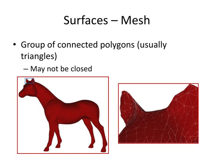 Surfaces mesh