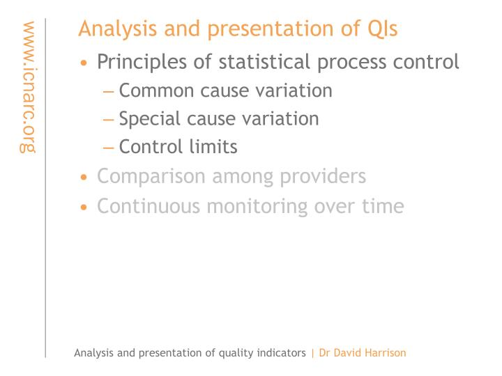 Analysis and presentation of qis1