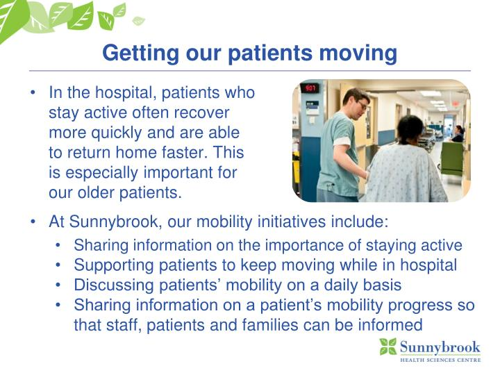 Getting our patients